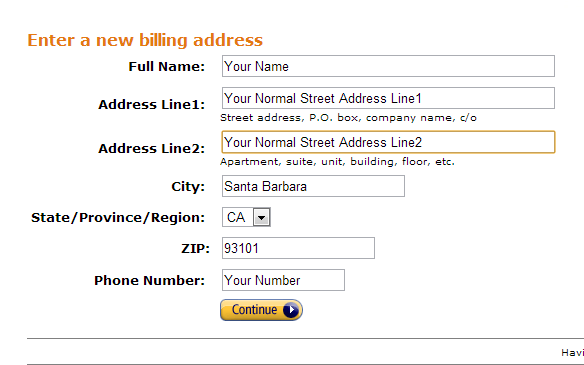 Step 4 - Changing Our Billing Address